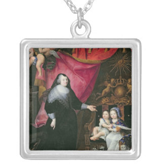 Madame de Lansac  and the Children of France Silver Plated Necklace