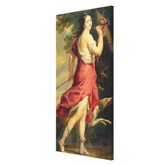 Madame de Montespan as Diana the Huntress Gallery Wrapped Canvas
