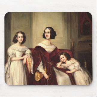 Madame de Nonjon and her Two Daughters, 1839 Mouse Mat