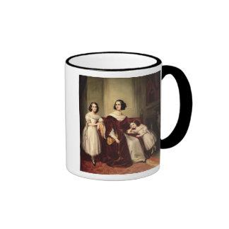 Madame de Nonjon and her Two Daughters, 1839 Coffee Mug