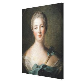 Madame de Pompadour  1748 Stretched Canvas Prints