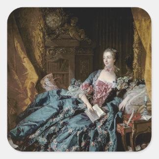 Madame de Pompadour, 1756 Square Sticker