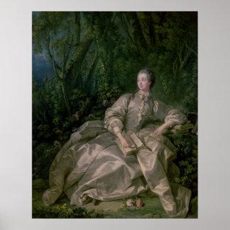Madame de Pompadour, 1758 Poster
