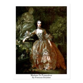 Madame De Pompadour By Francois Boucher Postcard