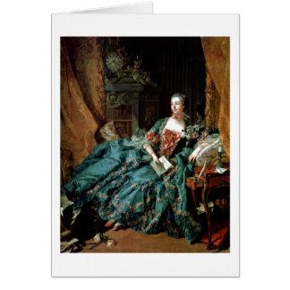 Madame De Pompadour Portrait By Francois Boucher Greeting Card
