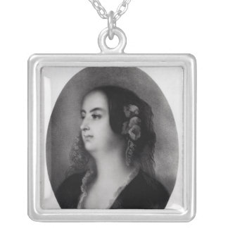 Madame Hanska  engraved by Emile Lassalle Silver Plated Necklace
