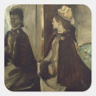 Madame Jeantaud in the mirror, c.1875 Square Stickers