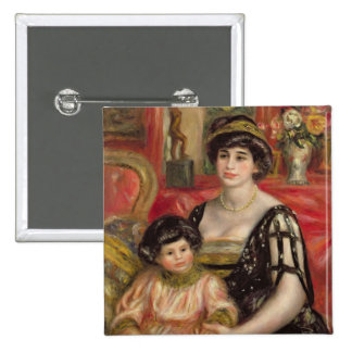 Madame Josse Bernheim-Jeune and her Son Henry 15 Cm Square Badge