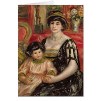 Madame Josse Bernheim-Jeune and her Son Henry Greeting Card