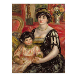 Madame Josse Bernheim-Jeune and her Son Henry Postcard