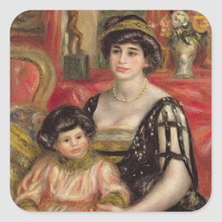 Madame Josse Bernheim-Jeune and her Son Henry Square Sticker