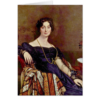 Madame Leblanc By Ingres Jean Auguste Dominique Greeting Card
