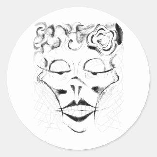 Madame Macabre Round Sticker