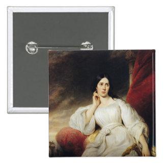 Madame Malibran  in the Role of Desdemona, 1830 15 Cm Square Badge