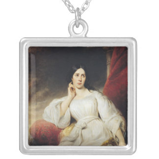 Madame Malibran  in the Role of Desdemona, 1830 Silver Plated Necklace