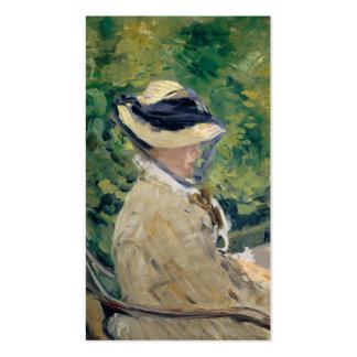Madame Manet at Bellevue - Édouard Manet Business Card Template