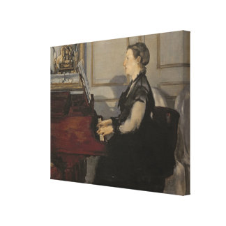 Madame Manet at the Piano, 1868 Gallery Wrapped Canvas