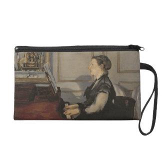 Madame Manet at the Piano, 1868 Wristlet Purses