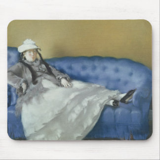 Madame Manet on a Blue Sofa, 1874 Mouse Pad