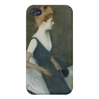 Madame Marthe Letellier Sitting on a Sofa Case For iPhone 4