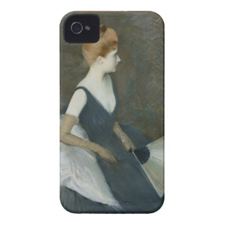 Madame Marthe Letellier Sitting on a Sofa iPhone 4 Case-Mate Cases