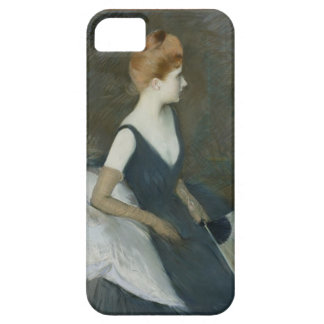 Madame Marthe Letellier Sitting on a Sofa iPhone 5 Case