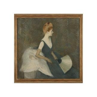 Madame Marthe Letellier Sitting on a Sofa Wood Wall Art