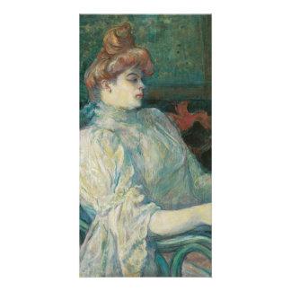 Madame Marthe X by Henri de Toulouse-Lautrec Photo Card Template
