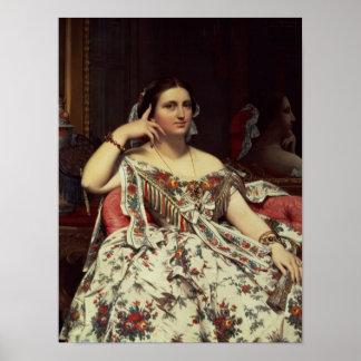 Madame Moitessier, 1856 Poster