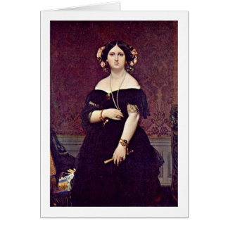 Madame Moitessier By Ingres Auguste Dominique Greeting Cards