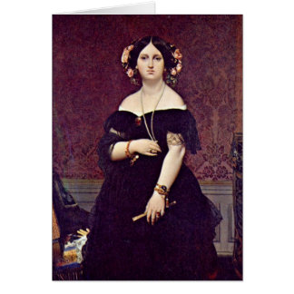 Madame Moitessier By Ingres Auguste Dominique Greeting Card