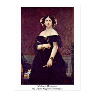 Madame Moitessier By Ingres Auguste Dominique Postcard