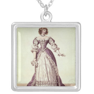 Madame Moliere, nee Armande Bejart Silver Plated Necklace