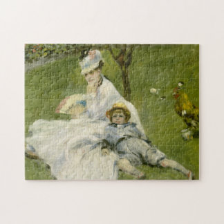 Madame Monet & Her Son Fine Art Jigsaw Puzzle