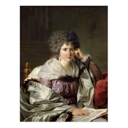 Madame Nicaise Perrin, nee Catherine Deleuze Postcard