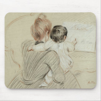 Madame Paul Helleu and her Daughter Paulette Mouse Pad