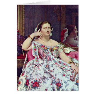 Madame Paul-Sigisbert By Jean Dominique Ingres Greeting Card