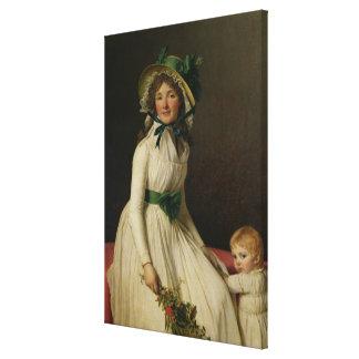 Madame Pierre Seriziat  with her Son, Emile Canvas Print