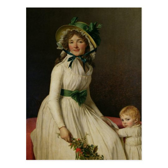 Madame Pierre Seriziat with her Son, Emile Postcard