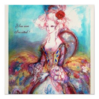 MADAME POMPADOUR ,Classy Costume Party 13 Cm X 13 Cm Square Invitation Card