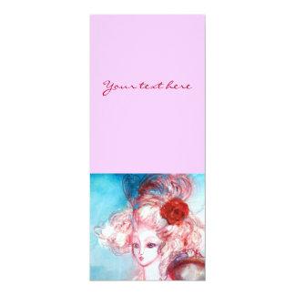 MADAME POMPADOUR ,Classy Gold Costume Party 10 Cm X 24 Cm Invitation Card
