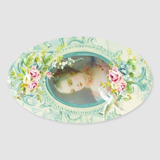 Madame Pompadour Oval Stickers or Seals