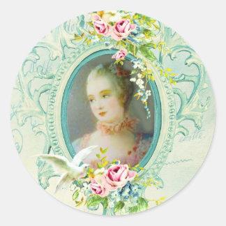 Madame Pompadour Passionannte 2 Singing Bird Sticker