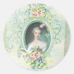 Madame Pompadour Passionannte Singing Bird Round Sticker