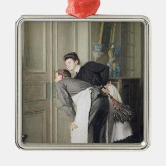 Madame Recoit, 1908 Silver-Colored Square Decoration
