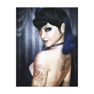 Madame Sophie Vampire Queen Wrapped Canvas Print