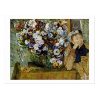 Madame Valpinçon with Chrysanthemums postcard