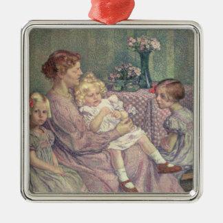 Madame van de Velde and her Children, 1903 Christmas Ornament