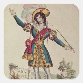 Madame Vestris Square Sticker
