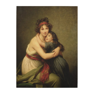 Madame Vigee-Lebrun and her Daughter 2 Wood Canvas